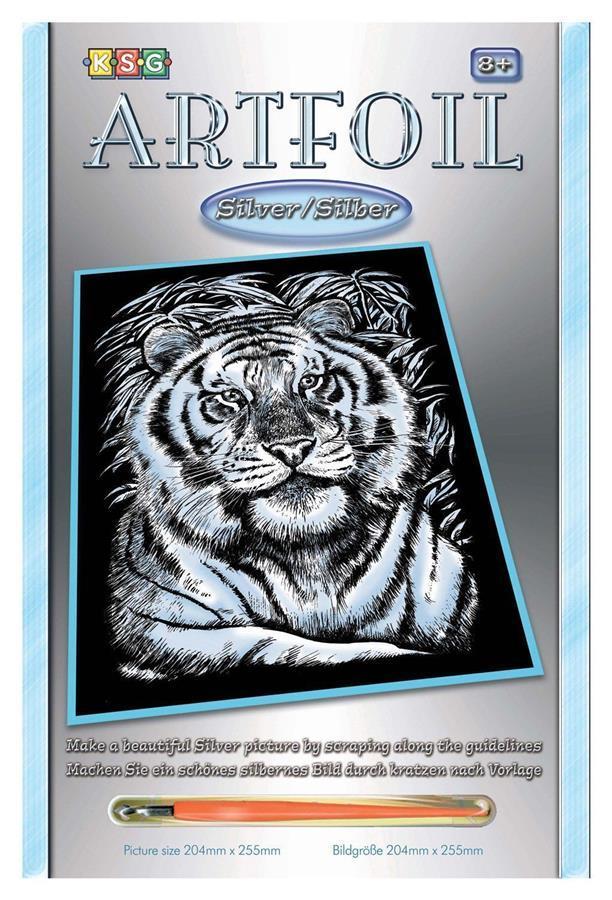 Набор для творчества Sequin Art ARTFOIL SILVER White Tiger SA1017