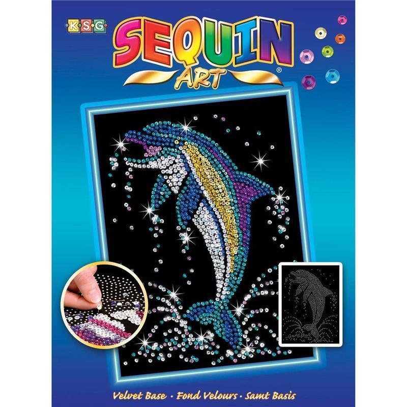 Набор для творчества Sequin Art BLUE Dolphin SA1516