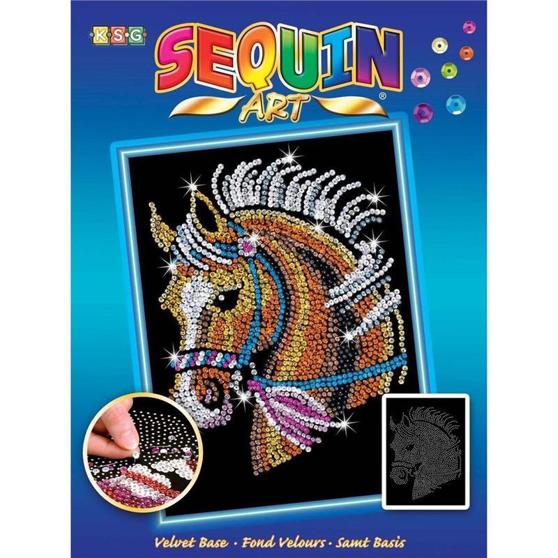 Набор для творчества Sequin Art BLUE Horse SA1517