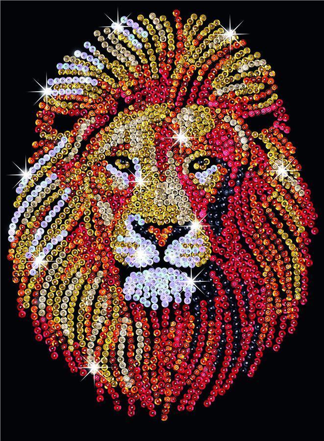 Набор для творчества Sequin Art BLUE Lion SA1207