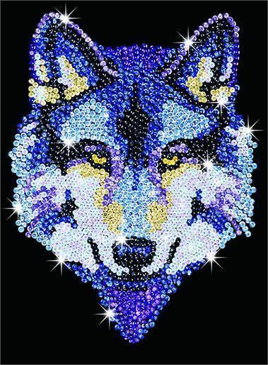 Набор для творчества Sequin Art BLUE Wolf SA1215