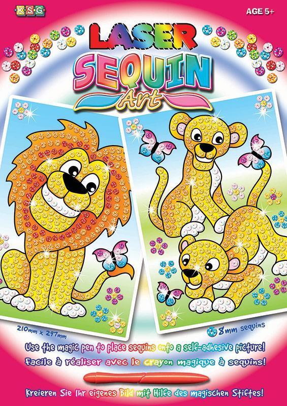 Набор для творчества Sequin Art LASER Lions SA1318