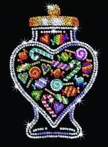 Набор для творчества Sequin Art ORANGE Candy Jar SA1505