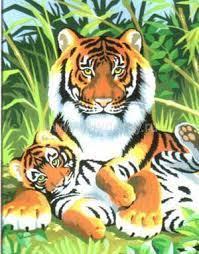 Набор для творчества Sequin Art PAINTING BY NUMBERS JUNIOR Tigers SA0029