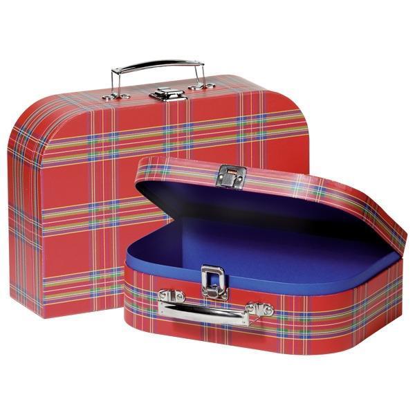 Набор игровых чемоданов goki Красные в полоску 60103G