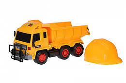 Набор машинок Same Toy Builder Самосвал + каска R6005-3Ut