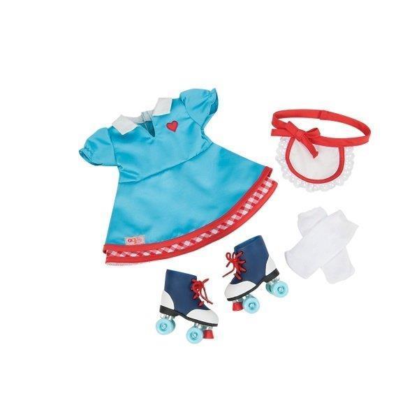 Набор одежды для кукол Our Generation платье с роликами BD60013Z