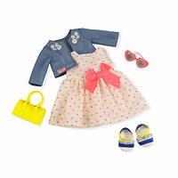Набор одежды для куколOur Generation Deluxe  Платье с сердечками и жакетом BD30246Z