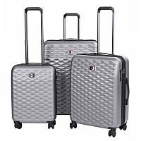 """Набор пластиковых чемоданов, Wenger Lumen Set (20""""/24""""/28""""), 4 колеса, серый"""
