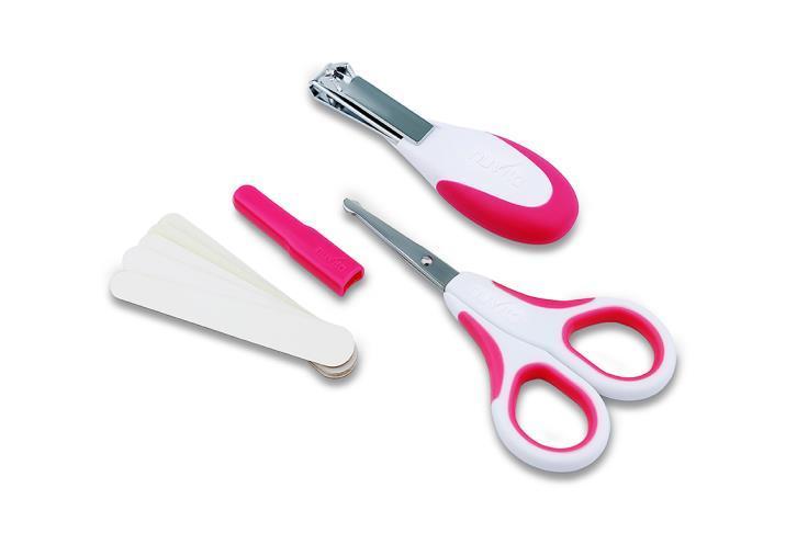 Набор по уходу за ребенком Nuvita 0м+ Розовый Безопасные ножнички с акс. NV1138Pink