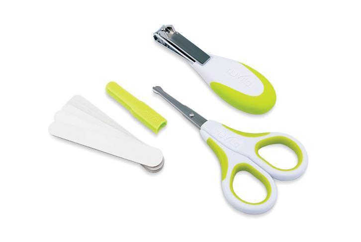Набор по уходу за ребенком Nuvita 0м+ Салатовый Безопасные ножнички с акс. NV1138Lime
