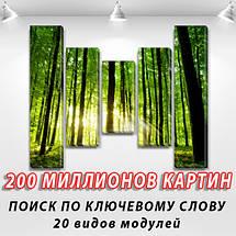 Модульные картины, на ПВХ ткани, 80x100 см, (80x18-2/55х18-2/40x18), фото 2