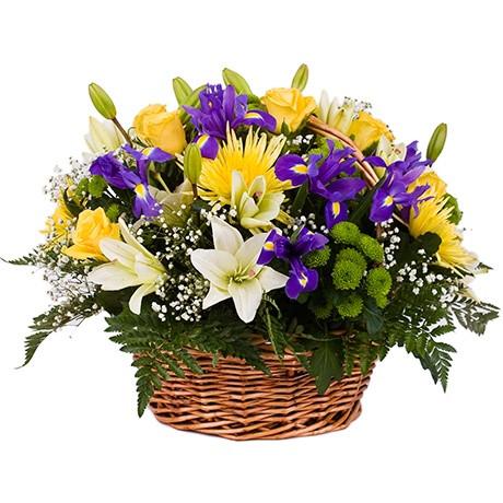 Корзина цветов с доставкой