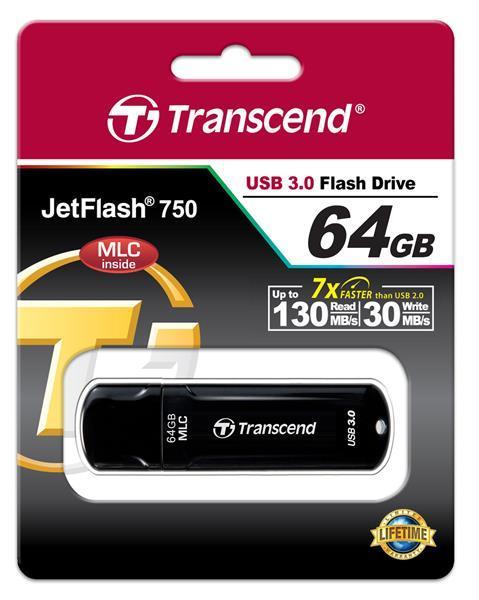 Накопитель Transcend 64GB USB 3.0 JetFlash 750