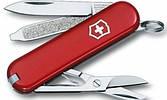 Практичный нож-брилок Victorinox Сlassic 06223 красный
