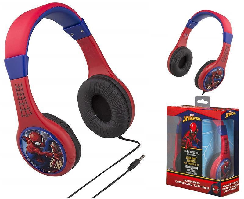 Наушники eKids MARVEL, Spider-Man, Kid-friendly volume, блистер