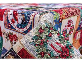 Скатерть праздничная новогодняя гобеленовая 260 х 137 см, фото 2
