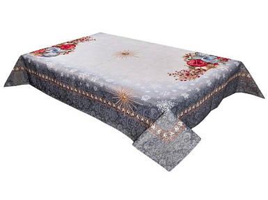 Скатерть новогодняя гобеленовая 97 х 100 см скатертина новорічна гобеленова