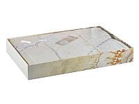 Постельное белье la perle жаккард-сатин крем (200х220/240х260/50х70х2шт/50х70хшт)