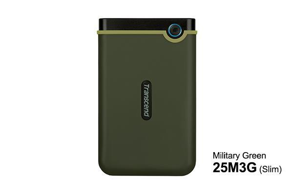 НЖМД Transcend StoreJet 2.5 USB 3.0 1TB M3G Military Green Slim