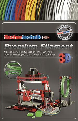 Нить для 3D принтера fisсhertechnik зеленый 50 грамм (полиэтиленовый пакет) FT-539121