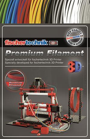 Нить для 3D принтера fisсhertechnik красный 50 грамм (полиэтиленовый пакет) FT-539131