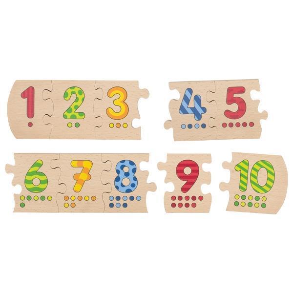 Пазл деревянный goki Учимся считать 57012
