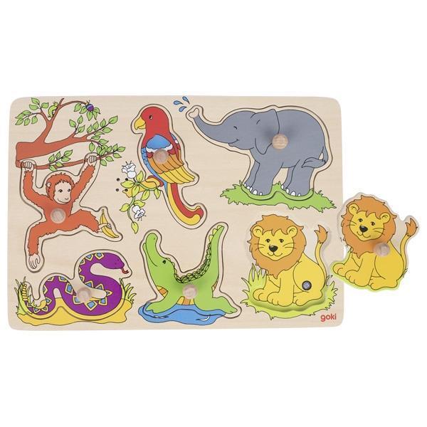 Пазл звуковой goki Зоопарк 57862G