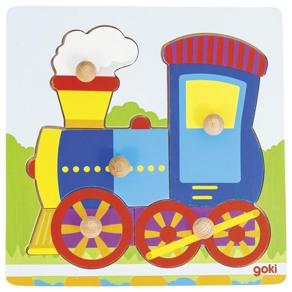 Пазл-вкладыш goki Поезд 57551G