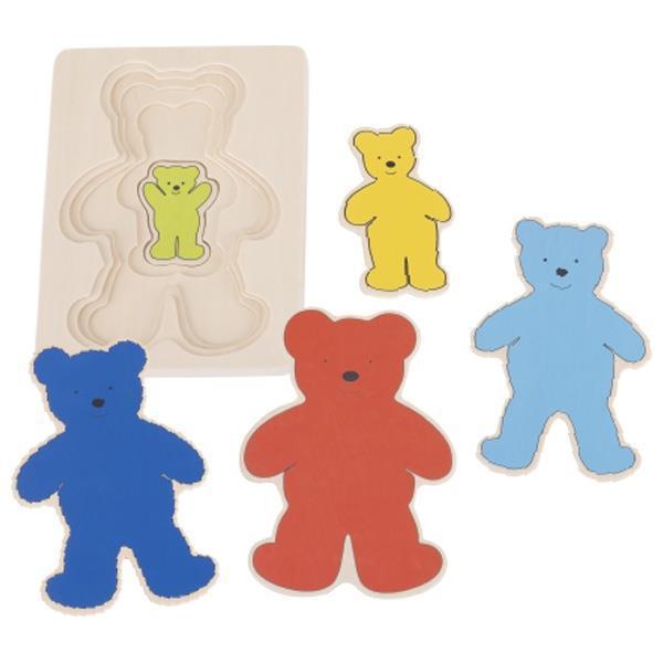Пазл-вкладыш goki Разноцветные мишки 57884