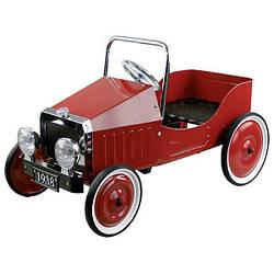 Педальная машинка goki Ретроавтомобиль червоний 14062G