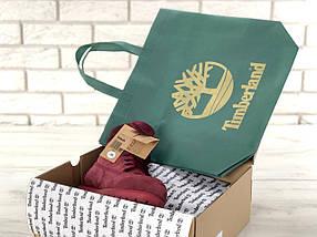 Женские зимние ботинки Timberland 6 inch Bordo С МЕХОМ, фото 3