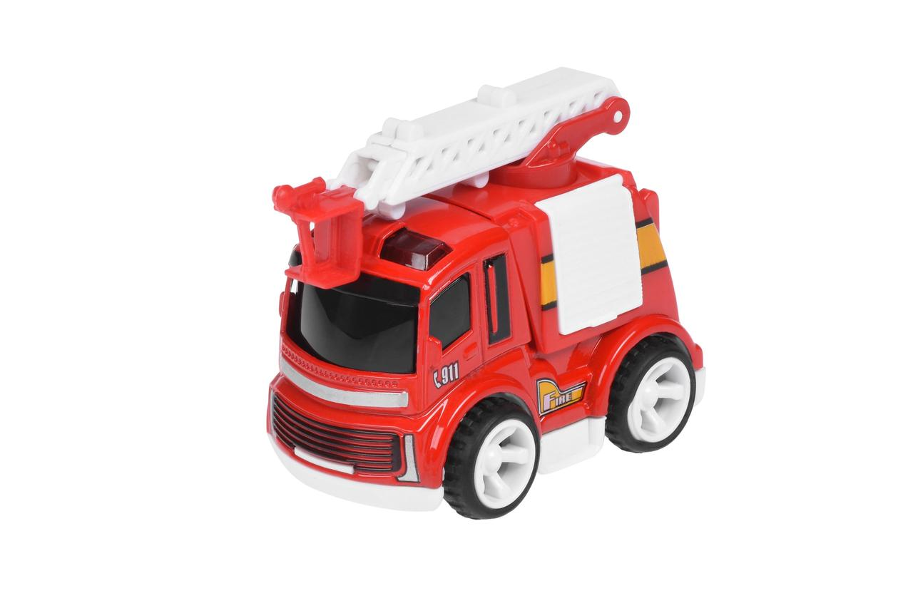 Пожарная машинка Same Toy Mini Metal с лестницей SQ90651-4Ut-2