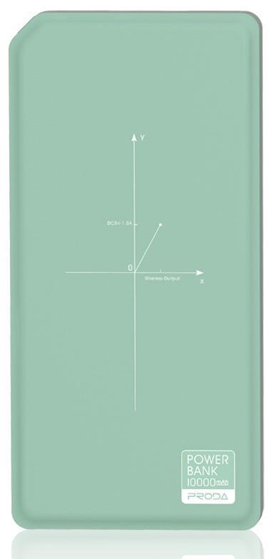 Портативное зарядное устройство Remax Proda Chicon Wireless 10000mAh green+black