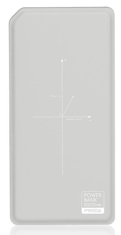 Портативное зарядное устройство Remax Proda Chicon Wireless 10000mAh grey+white