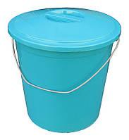 """Ведро пластиковое пищевое 24 литра с крышкой """"ПолимерАгро"""""""