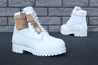 Женские зимние ботинки Timberland 6 inch White С МЕХОМ, фото 3