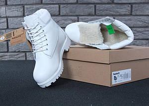 Женские зимние ботинки Timberland 6 inch White С МЕХОМ, фото 2