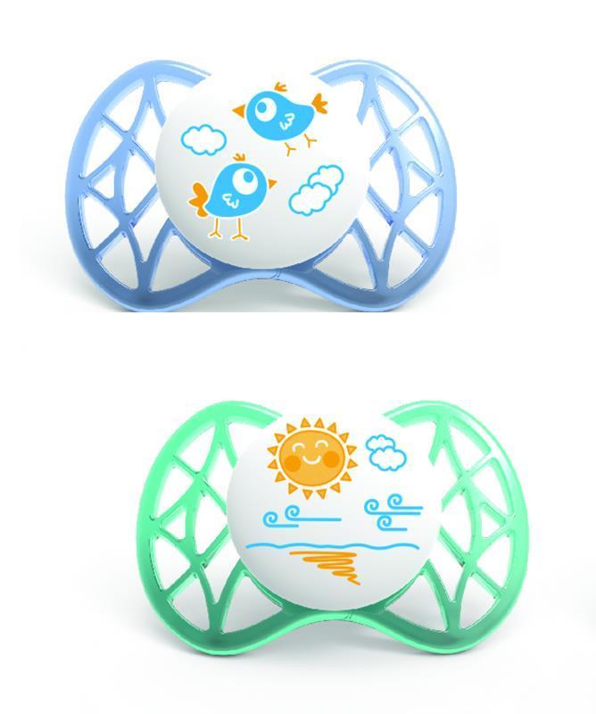 Пустышка симетрическая Nuvita Air 0м+ 2шт. для мальчика NV7061Boy
