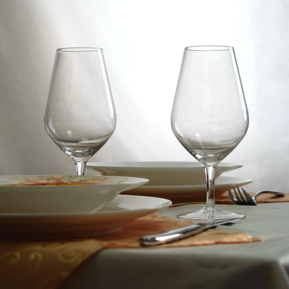 Комплект прозрачных бокалов для вина 2 шт. по 400 мл бокалы