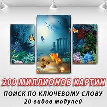 Картина модульная Золотая рыбка  для интерьера детского, 80х120 см, (55x35-2/80x45), фото 2