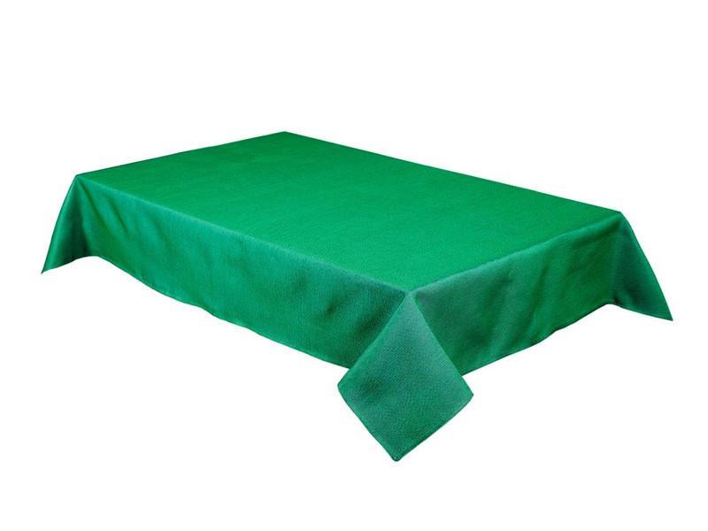 Скатерть новогодняя гобеленовая зеленая 260 х 137 см
