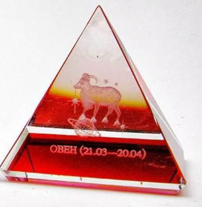 """Пирамиды хрустальные """"Гороскоп"""" (н-р 12 шт.)(5 см) ( 18201)"""