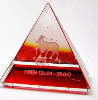 """Пирамиды хрустальные """"Гороскоп"""" (н-р 12 шт.)(5 см) ( 18201), фото 2"""
