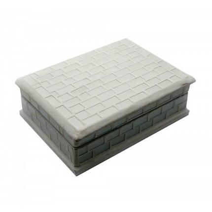 Шкатулка для украшений с мозаикой белая (18,5х13,5х6 см) ( 24259), фото 2
