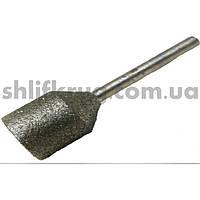 Алмазные головки цилиндрические на штоке
