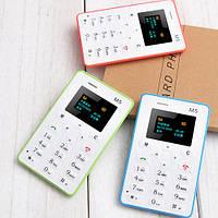 Ультратонкий мобильный телефон AIEK M5 толщиной 4.8мм с Bluetooth. Цвет: розовый