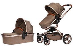 Універсальна коляска 2в1 Miqilong V baby X159 Brown (X159-02)