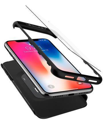 Чехол + стекло Spigen для iPhone XR Thin Fit 360 Black
