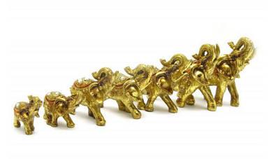 Слоны набор 7 шт (36х28х10 см)